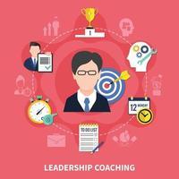 ilustração do conceito de coaching de liderança vetor