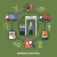 ilustração em vetor conceito guarda fronteira