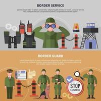 ilustração vetorial de banners de serviço de guarda de fronteira vetor