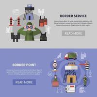 ilustração vetorial de banners de guarda de fronteira vetor