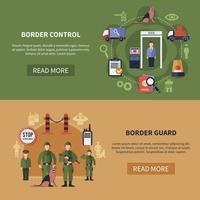 ilustração vetorial conjunto de bandeiras de guarda de fronteira vetor