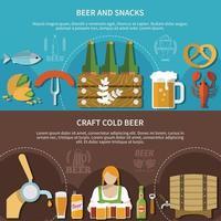 ilustração vetorial conjunto de banner de cerveja vetor
