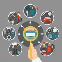 ilustração em vetor conceito serviço de pneus