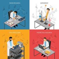 ilustração em vetor conceito laboratório de ciências