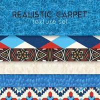 Ilustração em vetor conjunto horizontal realista de textura de tapete