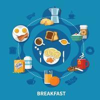 ilustração em vetor conceito plano de café da manhã