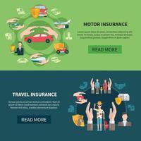 banners horizontais de seguro vetor