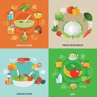 ilustração em vetor conceito alimentação saudável