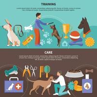 banners de cuidados veterinários para cães vetor