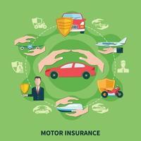 composição da rodada de seguro de transporte vetor