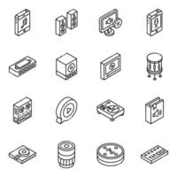 instrumentos e dispositivos multimídia vetor