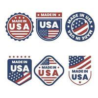 coleção de logotipos made in USA vetor