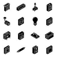 móveis e eletrodomésticos vetor