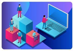 conceito ilustração tecnologia informática comunicação industrial vector