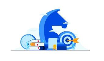 ilustração plana de estratégia de gestão de negócios vetor