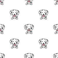 padrão de rosto de cachorro dálmata de personagem mostrando emoções diferentes vetor