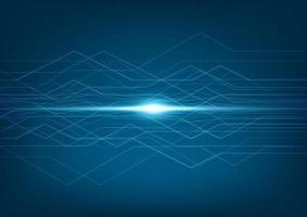 dados digitais de conexão de tecnologia de linhas abstratas e grande fundo de dados. vetor