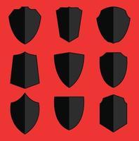 conjunto de vetor de ícone de escudo