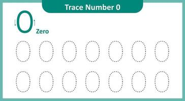 trace o número 0 vetor