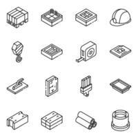 equipamentos e ferramentas de construção vetor