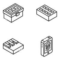 elementos relacionados à construção vetor