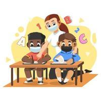 novo estudo normal na atividade escolar vetor