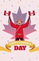 comemorar o dia do Canadá vetor