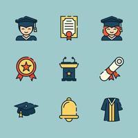 graduação na universidade vetor