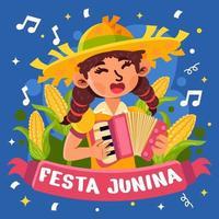 mulheres de festa junina vetor
