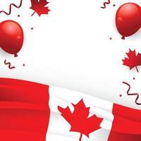 modelo de plano de fundo do dia da independência do Canadá vetor
