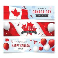 modelo de banner feliz dia canadense vetor