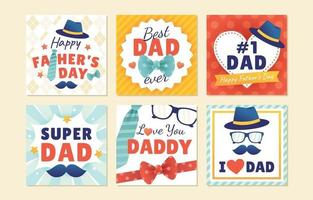 cartão do dia dos pais para o papai vetor