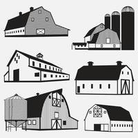 conjunto de modelos de design de ilustração vetorial celeiro vetor