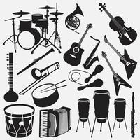 conjunto de modelos de design de vetor de ilustração de instrumentos musicais