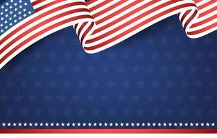 4 de julho, dia da independência, fundo da bandeira americana vetor