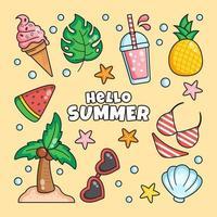 desordem de coisas relacionadas ao verão vetor