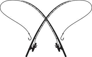 varas de pesca cruzadas vetor