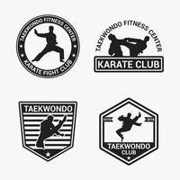 modelo de vetor de design de logotipo de taekwondo