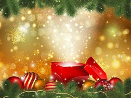 Fundo de presente de Natal vetor