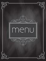 Design de menu de lousa vetor