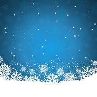 Flocos de neve de Natal e estrelas vetor
