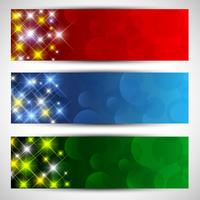 Banners estrelados de Natal vetor