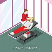 ilustração vetorial de fundo isométrico de cirurgia plástica vetor