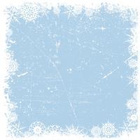 Fundo de Natal de floco de neve de grunge vetor