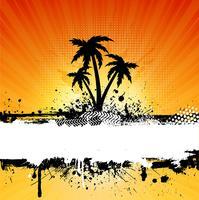 Fundo de palmeiras de grunge vetor