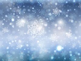 Fundo de floco de neve de Natal azul vetor