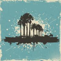 Fundo de árvore de palma vintage vetor