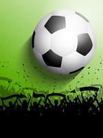 Multidão de futebol ou futebol vetor