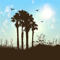 Fundo de árvore de palma vetor