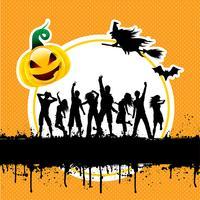 Fundo de festa de Halloween vetor